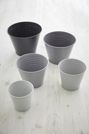 Sophie Conran set of 5 Ombre Pots in Grey