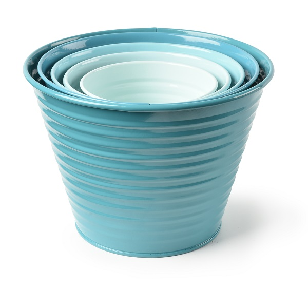Sophie Conran set of 5 Ombre Pots in Sea Green